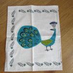 peacock T towel